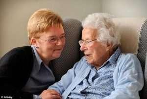 two elderly women