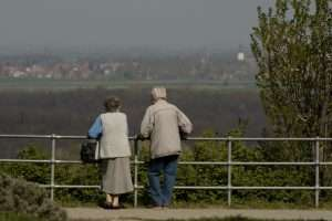 elderly could look out at scenery