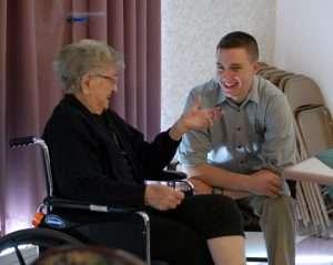 grandma grandson talking generation