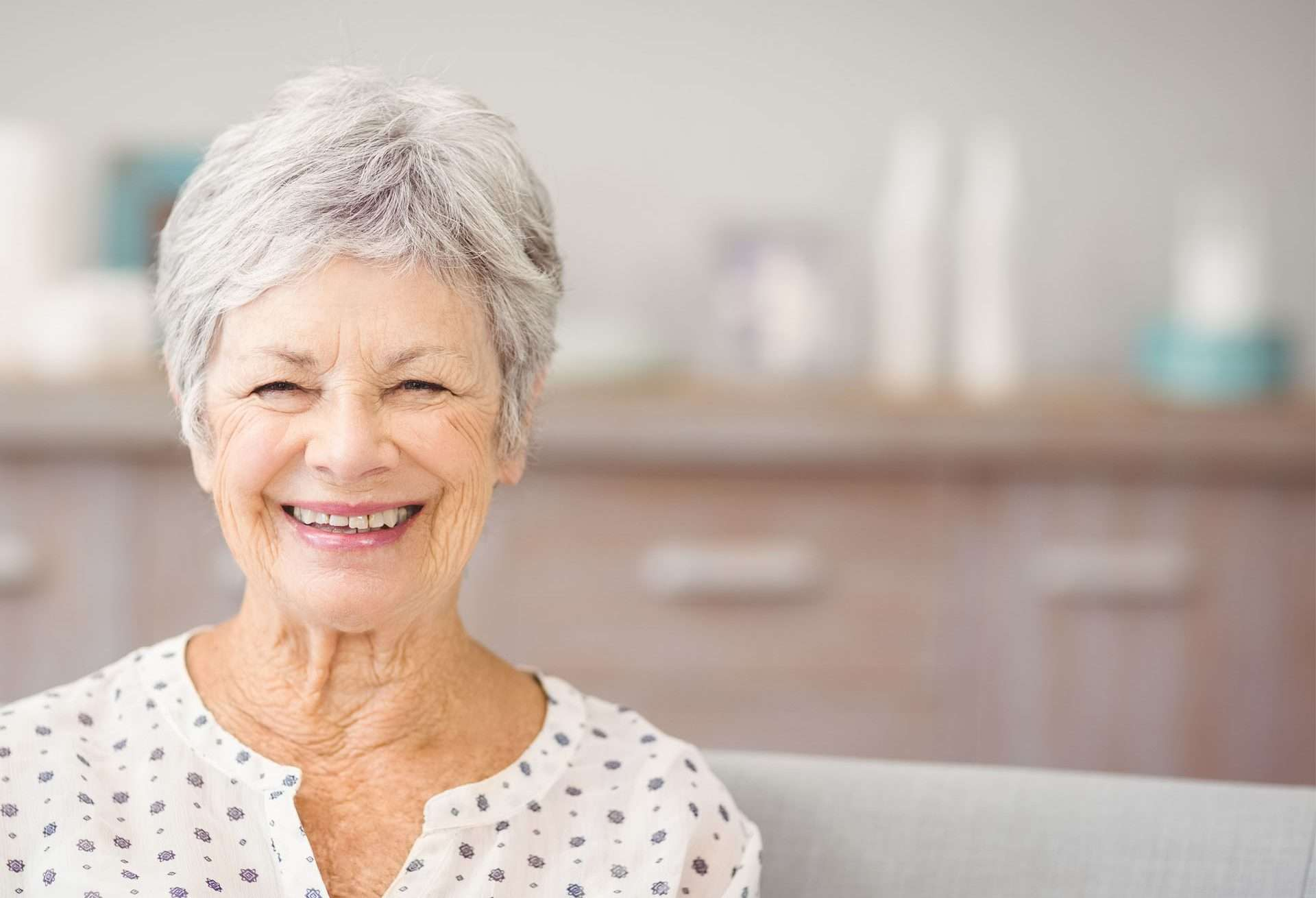 Client smiling