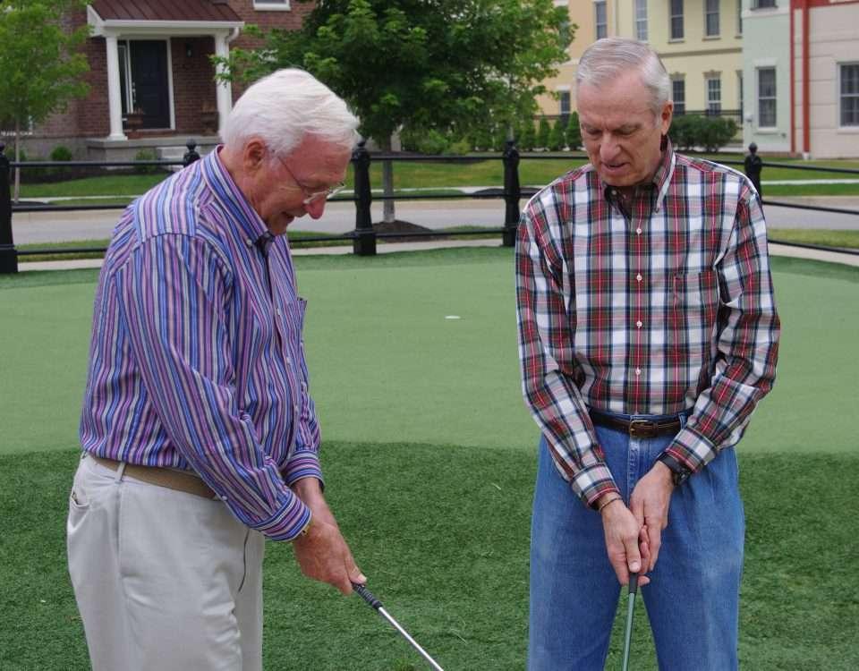 senior activity, golf, senior event